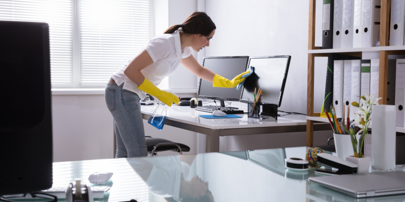 Hiring cleaning services to tackle the newly vacated bedroom