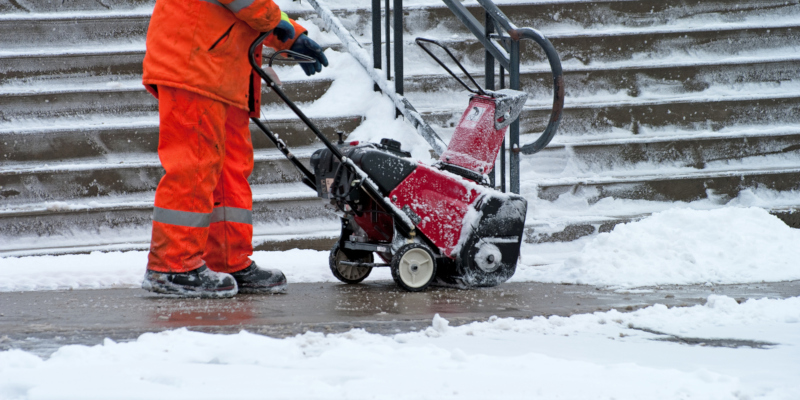 snow removal from a commercial setting is no simple task