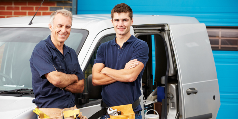 advertisements for plumbing companies that are marketing services