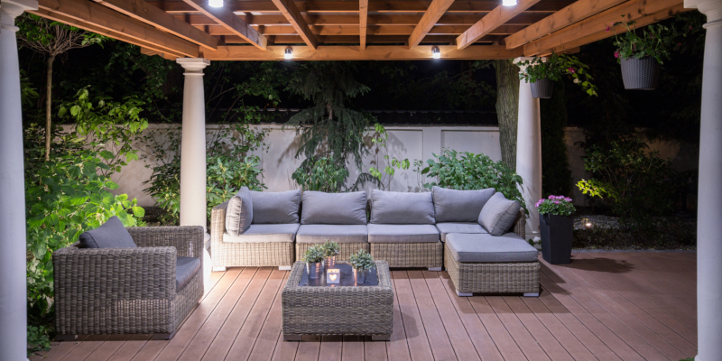 having a motorized screen out on your patio