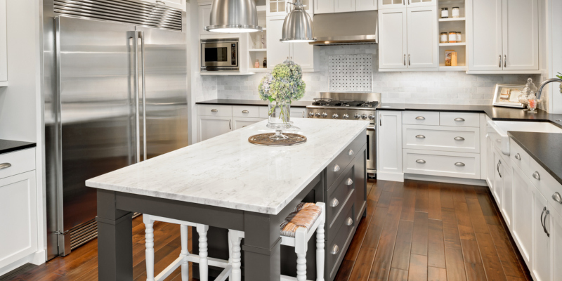 granite countertop is a classic choice that is also highly customizable