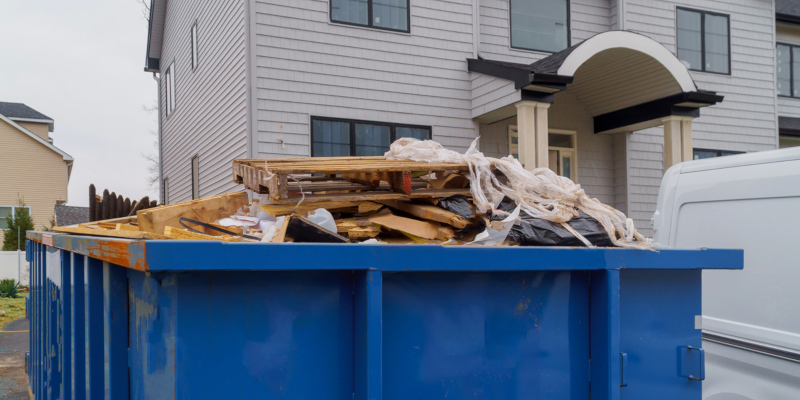 Dumpster rentals allow you to throw away a large amount of trash